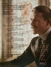 THE LOST CITY OF Z Oscar Golden Globe advertisement Charlie Hunnam Academy ad