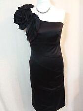 Stunning Karen Millen black one shoulder, Silk mix dress , size 12