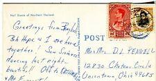 1970 Bangkok Thailand Siam Cover Uniontown OH USA on Nail Dance chrome postcard