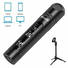 Microphone for Smartphone and PC, Rechargeable Portable 3.5mm Condenser