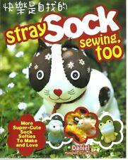 Stray Sock Sewing Too Make Softies Cheshire Cat Monkey Owl Sheep Dog Friend New