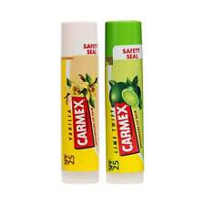 NEW Carmex - Lip Balm 2-Pack Lime and Vanilla Stick with SPF 25