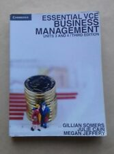 Essential VCE Business Management Units 3 & 4 3rd edition student textbook