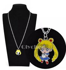 Sailor Moon Anime Metal Necklace Chain Pendant Cosplay US Seller