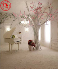 WHITE PIANO TREE VINTAGE BACKDROP BACKGROUND VINYL PHOTO PROP 5X7FT 150X220CM