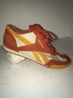 RARE VINTAGE Reebok SIZE 8 Women's RUNNING SHOES Orange Gold Early