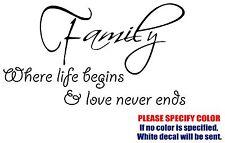 "Family & Love Jdm Funny Vinyl Decal Sticker Car Window Bumper Wall laptop 12"""