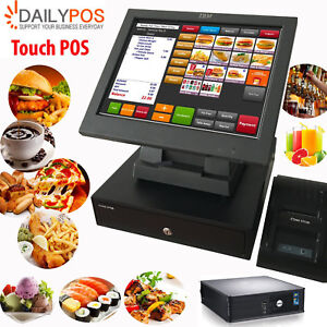 Touch POS System Restaurant Cafe Pizza Fish Chips Takeaway Cash Register