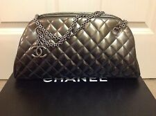 CHANEL Degrade Patent Leather Just Mademoiselle Medium Bowler Bag
