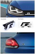R GRILLE HATCH Badge for VW VOLKSWAGEN GOLF MK 6 7 R Passat Tiguan Scirocco POLO