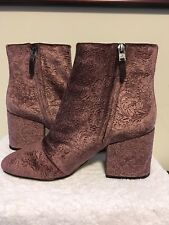 ac8ffaa5be3965 SAM EDELMAN Women s Taye Wine Mauve Embossed Velvet Ankle Boot Size 10