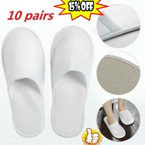 10 pairs SPA HOTEL GUEST SLIPPERS CLOSE TOE DISPOSABLE TYPE