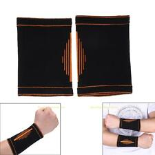 2PCS Breathable Hand Wrist Support Band Protector Brace Elastic Injury Sport Gym