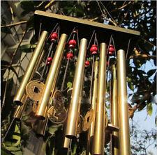 Windspiel Klangspiel mit 10 Klangröhren Holz Metall FengShui Garten Haus Deko