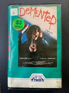 DEMENTED - VHS HORROR (1982 MEDIA) ***OVERALL EXCELLENT CONDITION***