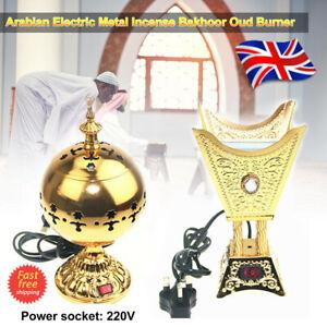Arabian Incense Diffuser Bakhoor Oud Burner Bakur Metal Electric Mabkhara Gift