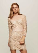 Womens Branded New VIP Premium Lace Embellished Sequin Nude Dress size 12
