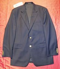 RALPH LAUREN Blue Wool Sport Coat Blazer  Jacket w GOLD BUTTONS men 41L EUC !!!