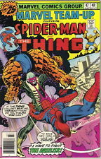 Marvel Team-Up Comic Book #47 Spider-Man and The Thing, 1976 VERY FINE/NEAR MINT