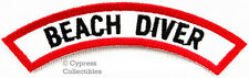 BEACH DIVER CHEVRON - SCUBA DIVING iron-on DIVE PATCH embroidered applique