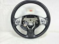 2008 Mitsubishi Outlander Black Leather Steering Wheel W/ Control Buttons OEM