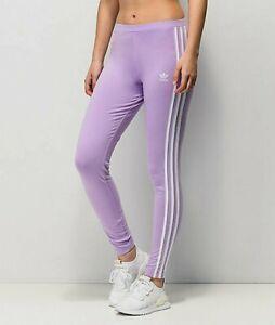 XS  adidas O.G. Women's Classic  3 STRIPES LEGGINGS  UK6 US2  Purple Glow  LAST1