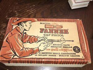 Vintage Original 1958 Mattel FANNER  SHOOTIN' SHELL Cap Gun With Box