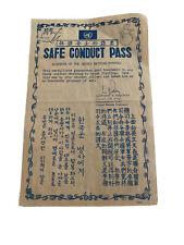 Korean War Safe Conduct Pass Leaflet US Army ORIGINAL