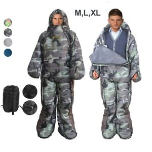 Adults Full Body Sleeping Bag Suit Warm Walker Wearable Travel Camping Outdoor