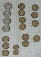 LOT OF 19 HONG KONG COINS 1950'S AND 1949: 50 CENTS, 10 CENTS, 5 CENTS