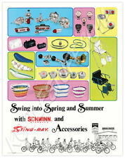 Schwinn Bicycle SWING INTO SPRING and SUMMER Stingray Accessories Poster