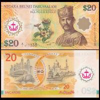 Brunei 20 Ringgit, 2007, P-34, Polymer, COMM., Banknote, UNC