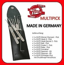 WOW Multipick Elite 9 Pick-Set Lockpicking Dietrich pickset Schloss knacken tür