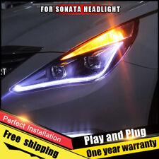 For Hyundai Sonata Headlights assembly Bi-Xenon Lens Double Beam HID KIT 11-14