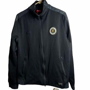 Nike Men's Black FC Football Club Soccer Track Jacket SZ L 833816-010 Full Zip