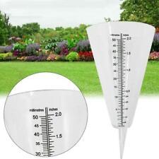 2PCS Conical Rain Meter Gauge Plastic Transparent Measuring Cup Garden Use AU