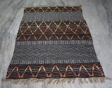 Hand Woven Jute Rug Black Color Home & Garden Decor 4x6 Feet Area Rug