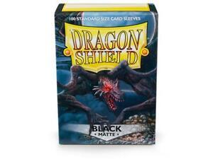 Dragon Shields: (100 Sleeves) Matte Black by Arcane Tinman ATM11002