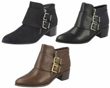 Patternless Zip Suede Boots for Women Spot On