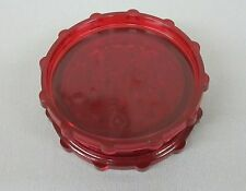 """2 3/4"""" RED Plastic 2 Piece Tobacco, Herb, Spice Grinder (Made in the USA)"""