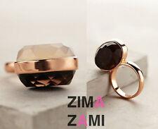Nwt Anthropologie Lola Rose Modernist Geometric Selma Ring Black Quartz Size 6
