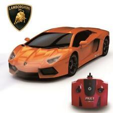 RC REMOTE CONTROLLED CAR 1.24 ORANGE LAMBORGHINI AVENTADOR KIDS TOY NEW GIFT