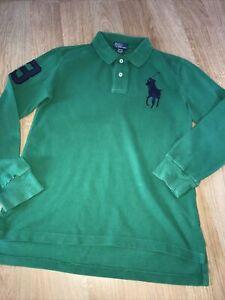 Ralph Lauren Age 10-12y Long Sleeve Polo Top Green Colour