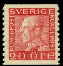 SWEDEN #171v (180b) 20ore red, WHITE PAPER var, og, NH, VF, Facit $95.00