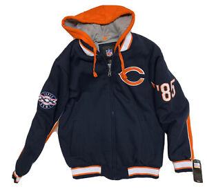 NWT Chicago Bears 1985 Super Bowl XX Champions Jacket w/Hood Mens Medium