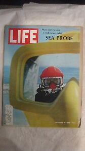 Life Magazine October 4th 1968 Man Moves Into A Rich New Realm Sea Probe   mg966