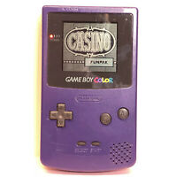 Nintendo Game Boy Colour purple, Used Working Order + Casino Game