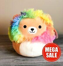 """*SALE* Kellytoy Squishmallows 8"""" Richard Rainbow Lion NEW SPRING HTF Plush Toy"""