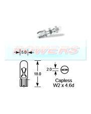 LUCAS LLB508 24V 1.2W CAPLESS W2x4.6D DASHBOARD WARNING LAMP GAUGE LIGHT BULB