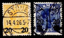1926 Denmark Stamps Of 1921-22 Surcharged - Used - Vf - Cv$34.00 (Esp#2532)